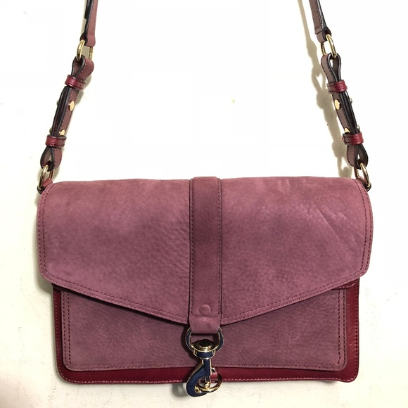incredible prices classic styles on feet shots of Rebecca Minkoff Hudson Moto Burgundy Crossbody NWT